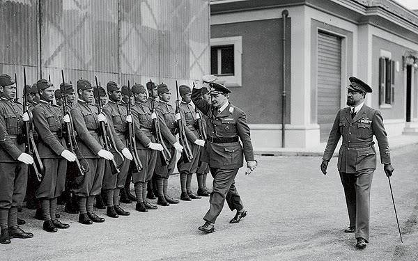 Tripoli 1938 Balbo con il Reichsmarschal Hermann Göring