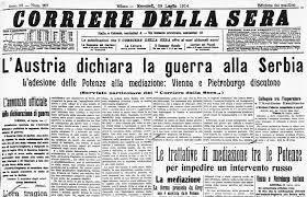 L'Austria dichiara guerra alla Serbia