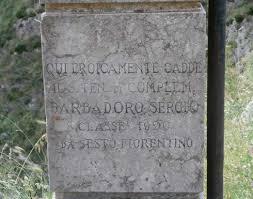 Monumento per Sergio Barbadoro