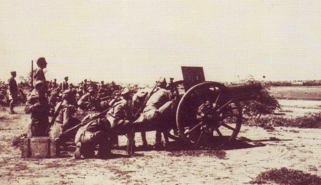 Artiglieria italiana a Cassala nel 1940