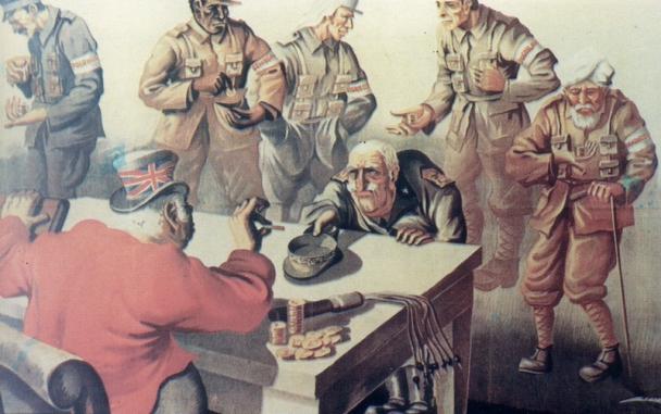 L'armistizio in una vignetta denigratoria