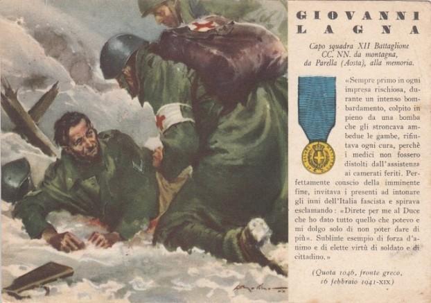 Camicia Nera Giovanni Lagna 16 febbraio 1941 Fronte Greco