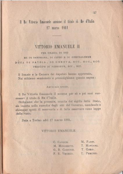 Prima pagina del Decreto