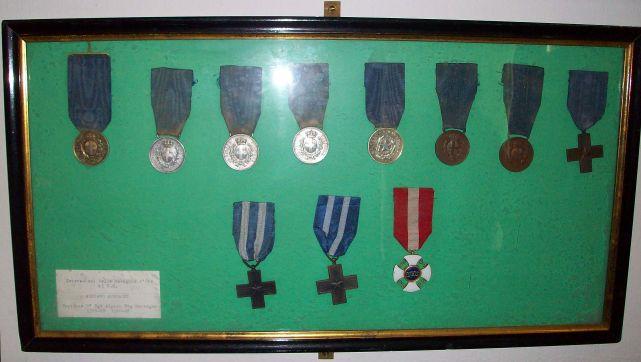 Il medagliere del capitano Auguadri, conservato presso il Museo Civico di Como.
