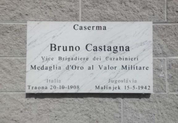 Targa Vice Brigadiere Bruno Castagna