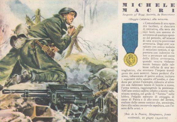 MICHELE MACRI' 21 giugno 1940 (battaglia delle Alpi occidentali)